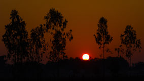 Sonnenaufgang in Vientiane Stockfotografie