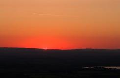 Sonnenaufgang vom BO-Blick-Hügel Lizenzfreies Stockfoto