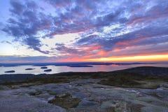 Sonnenaufgang vom Cadillac-Berg   Lizenzfreies Stockfoto