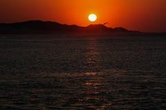 Sonnenaufgang vom Pier im Hafen Alfred Stockfotos