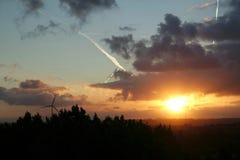 Sonnenaufgang vom 10. Stock Stockfoto