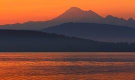 Sonnenaufgang von Anacortes, Washington State Lizenzfreie Stockfotos