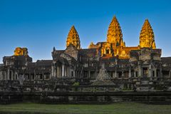 Sonnenaufgang von Angkor Wat Lizenzfreies Stockbild