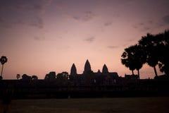 Sonnenaufgang von Angkor Wat morgens, Kambodscha Lizenzfreie Stockbilder