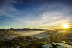 Sonnenaufgang von Baguio Stockfotos