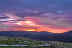 Sonnenaufgang von Buzludzha lizenzfreies stockbild
