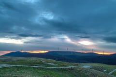 Sonnenaufgang von Buzludzha stockfotografie