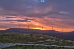 Sonnenaufgang von Buzludzha stockbild