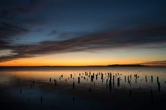 Sonnenaufgang von den Ruinen stockbilder