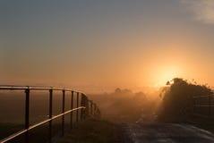 Sonnenaufgang von der Brücke Lizenzfreies Stockbild