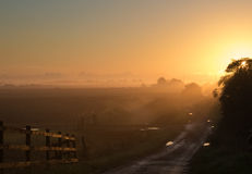 Sonnenaufgang von der Brücke Stockbilder