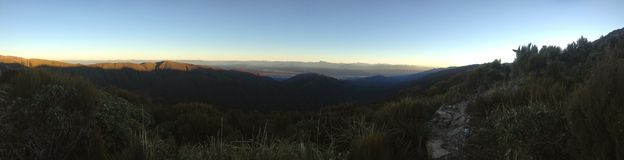 Sonnenaufgang von der Hütte Lizenzfreie Stockfotografie
