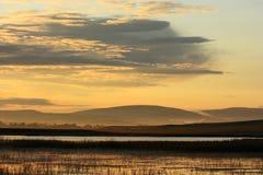 Sonnenaufgang von Fluss Lizenzfreies Stockbild