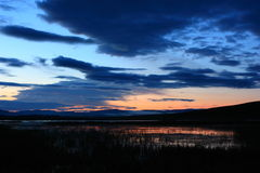 Sonnenaufgang von Fluss Lizenzfreie Stockbilder