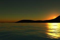Sonnenaufgang von hinten einen Berg vektor abbildung