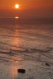 Sonnenaufgang von Infertidal Mudflat von Xiapu Lizenzfreies Stockbild
