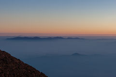 Sonnenaufgang von Mt fuji Stockfotografie