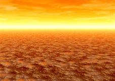 Sonnenaufgang. Wüste Stockbilder