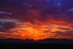 Sonnenaufgang, Washington State Lizenzfreie Stockfotos