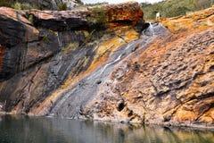 Sonnenaufgang-Wasserfall Stockfotos