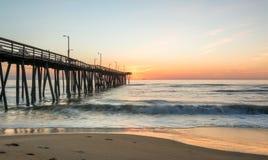Sonnenaufgang weg von 14. St.-Pier Stockfotos