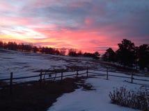 Sonnenaufgang in West-Nebraska Stockfotografie