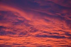 Sonnenaufgang-Wolken Lizenzfreies Stockbild