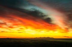 Sonnenaufgang in Yambol, Bulgarien lizenzfreies stockbild