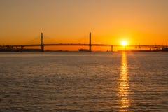 Sonnenaufgang in Yokohama, Japan Lizenzfreie Stockfotografie
