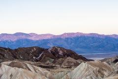 Sonnenaufgang an Zabriskie-Punkt, Nationalpark Death Valley, USA Lizenzfreie Stockfotografie