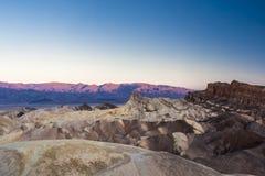 Sonnenaufgang an Zabriskie-Punkt, Nationalpark Death Valley, USA Lizenzfreie Stockbilder