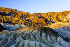 Sonnenaufgang an Zabriskie-Punkt, Nationalpark Death Valley, USA Stockfoto