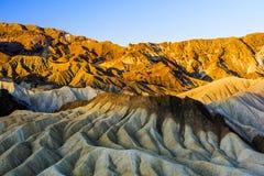 Sonnenaufgang an Zabriskie-Punkt, Nationalpark Death Valley, USA Stockfoto