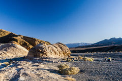 Sonnenaufgang an Zabriskie-Punkt, Nationalpark Death Valley, USA Stockfotos
