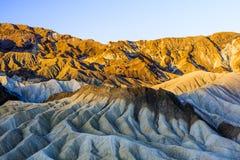 Sonnenaufgang an Zabriskie-Punkt, Nationalpark Death Valley, USA Stockbilder