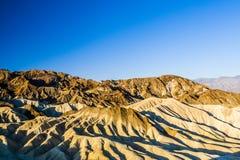 Sonnenaufgang an Zabriskie-Punkt, Nationalpark Death Valley, USA Stockbild