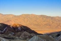 Sonnenaufgang an Zabriskie-Punkt, Nationalpark Death Valley, USA Lizenzfreies Stockbild