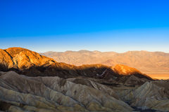 Sonnenaufgang an Zabriskie-Punkt, Nationalpark Death Valley, USA Stockbilder