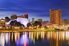 Sonnenaufgangabschluß SA Adelaide City Lizenzfreie Stockfotografie