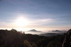 Sonnenaufgangansicht von Thailand Lizenzfreie Stockfotografie