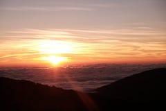 Sonnenaufgangansicht von Thailand Stockbild