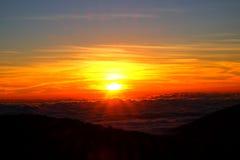 Sonnenaufgangansicht von Thailand Lizenzfreie Stockfotos