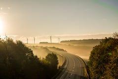 Sonnenaufgangbrücke Lizenzfreie Stockfotos