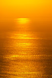 Sonnenaufgangglühen von Ozean Stockbild