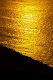 Sonnenaufgangglühen von Ozean Lizenzfreie Stockfotos