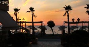 Sonnenaufgangherbstsaison - Vrasna, Griechenland Stockbilder