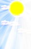 Sonnenaufganghintergrund lizenzfreie abbildung
