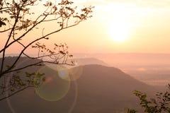 Sonnenaufganghintergrund Stockfotos