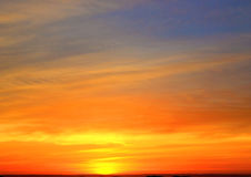 Sonnenaufganghorizont Skyscape Lizenzfreies Stockbild