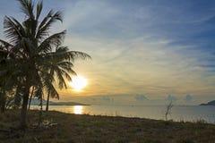 Sonnenaufgangküste Stockfotos